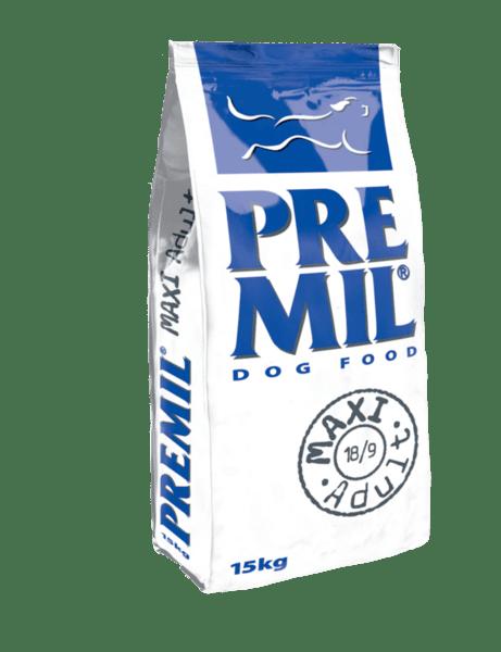 Premil Maxi Adult Dog - суха храна за кучета над 1 година от средни и едри породи с пилешко месо 15 кг.