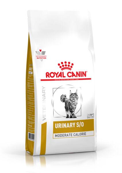 Royal Canin@ Urinary S/O Moderate Calorie Cat - лечебна ниско калорийна храна за котки, подходяща за разтваряне на струвитни камъни.