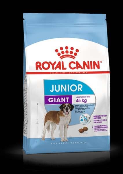 ROYAL CANIN® GIANT JUNIOR - пълноценна суха храна за подрастващи кученца от 8- до 18/24-месечна възраст от гигантски породи.