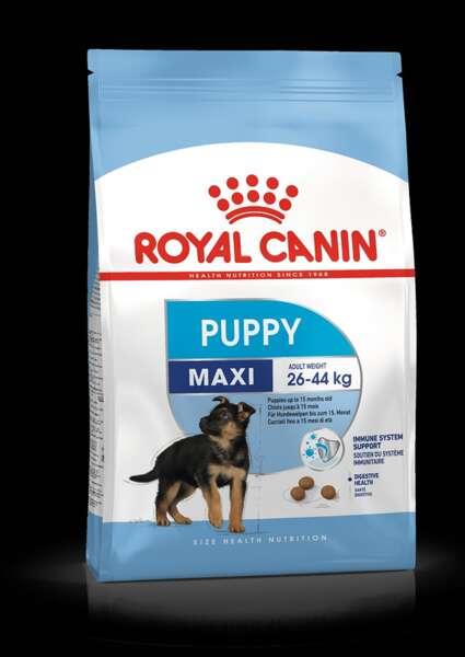 ROYAL CANIN® MAXI PUPPY - пълноценна суха храна за подрастващи кученца от 2- до 15-месечна възраст от едри породи.