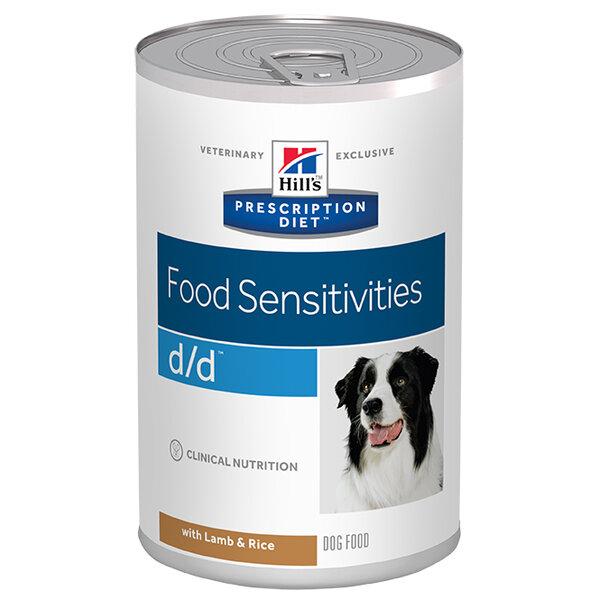 Prescription Diet Canine d/d Lamb Can - консервирана диетична храна за кучета подсилваща кожната бариера с агнешко.