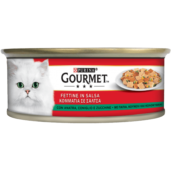 Purina@ Gourmet Slices In Sauce With Duck, Rabbit And Zucchini - Гурме резенчета в сос с патица, заек и тиквички 195 гр.