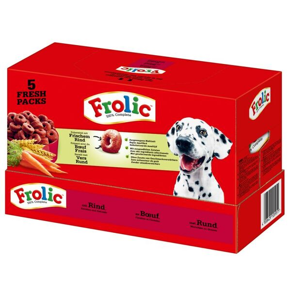 Frolic Dry Dog Food With Beef - Суха храна за израстнали кучета с говеждо 7.5 кг.