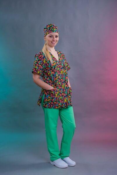 Медицинско облекло с щампа - Model 015