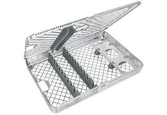 85.995.01 TRAY, SURGICAL, INSTRUMENT WASH BASKET със INDIVIDUAL INSTRUMENT HOLDERS