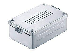 85.327.15 Стерилизационен контейнер перфорирана BOTTOM и COVER ALUмалкаUM, сиво; 310X190X80 мм,