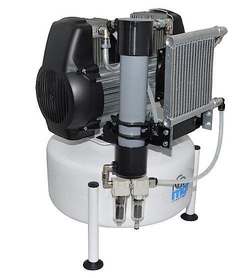 Безмаслен компресор с мембранен изсушител 24/10 GENESI M подходящ за 1-2 дентални юнита