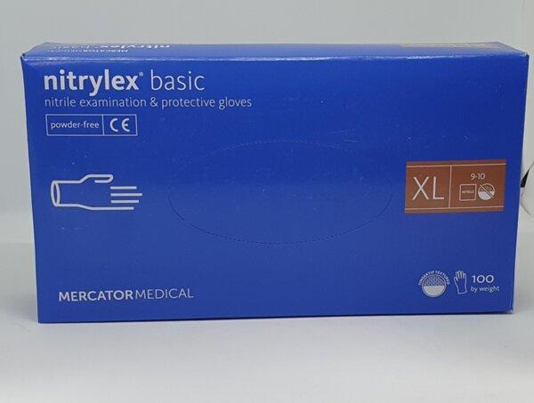 Нитрилни ръкавици без талк Nitrylex Basic - 100 бр.