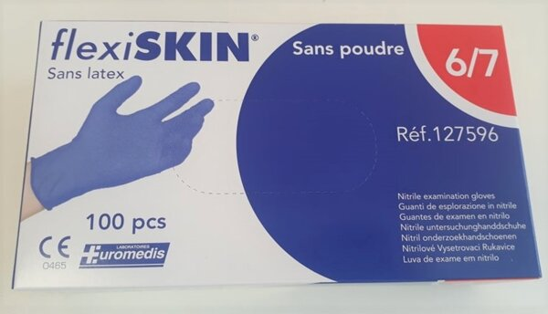 Нитрилни ръкавици без талк 100 бр. - Euromedis