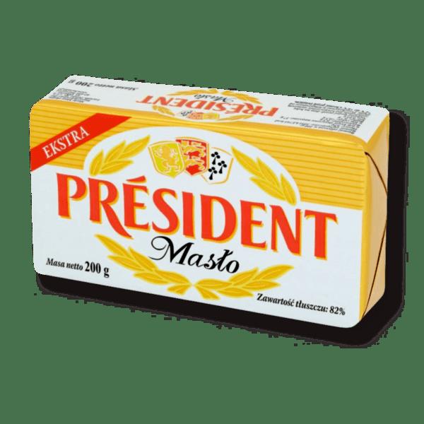 Краве масло PRESIDENT extra 82% 200 г