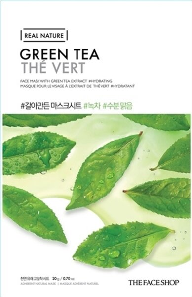 THE FACE SHOP REAL NATURE - Green Tea, 20 g