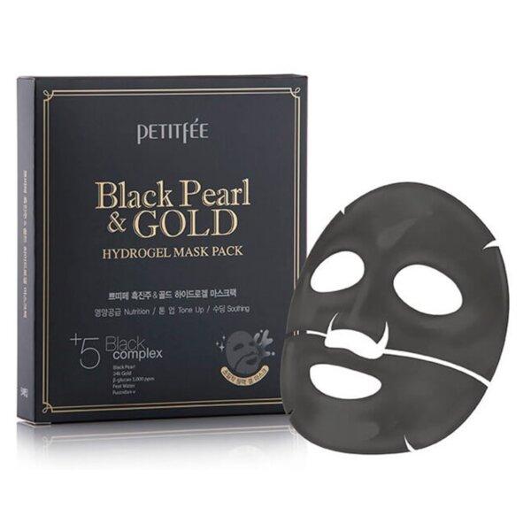 PETITFEE Black Pearl & Gold Hydrogel Mask Pack, 32 g