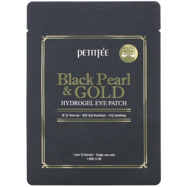 PETITFEE Black Pearl & Gold Hydrogel Eye Patch, 2 p.