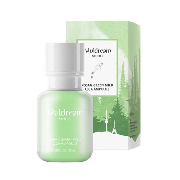MULDREAM Vegan Green Mild Cica Ampoule, 55 ml