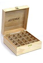 Дървена кутия за съхранения на масла (Logo Engraved Wooden Box)