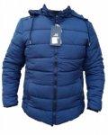 Мъжко зимно яке, мастилено-синьо, в големи размери, батал