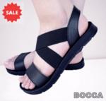 Спортни дамски сандали BOCCA на равно ходило с кръстосани ластици на свода
