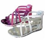Детски сандали за госпожица с цип на петата в два цвята