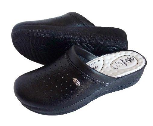 Черни дамски чехли GEZER