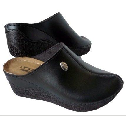 Дамски черни чехли VIP*STAR Comfort, анатомични и елегантни-Copy