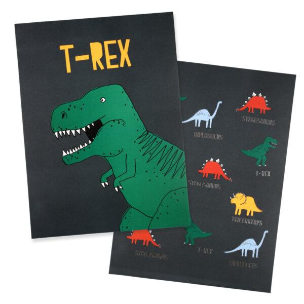 Meri Meri Постери Динозаври