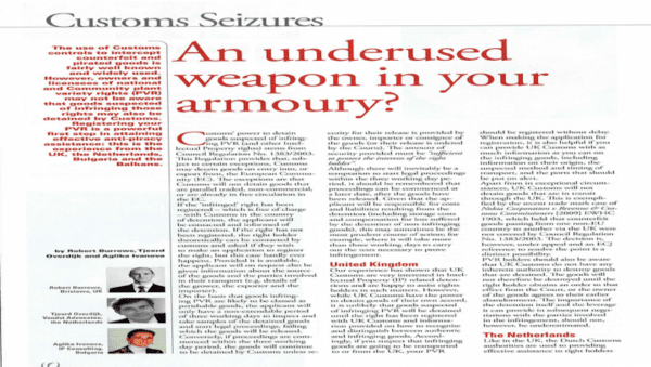 An undesired weapon in your armory?