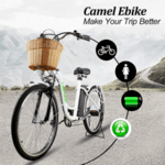 "Електрически велосипед NAKTO City Electric Bicycle 22 ""Elegance с кошница 36V 12A 250W"
