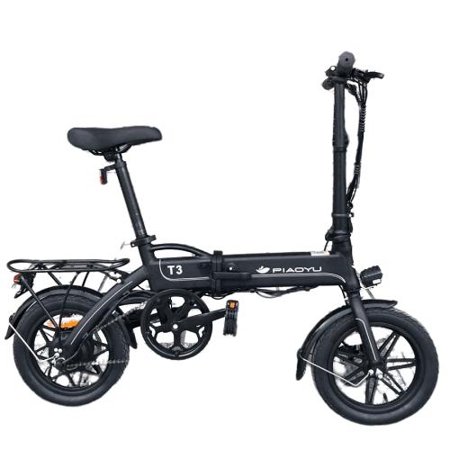 Електрически велосипед PIAOYU T3 сгъваем, черен 14 инча 36V 12A 250W