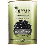 OLYMP Гръцки маслини черни без костилка Лардж (231 - 260) тенекия 2 кг.
