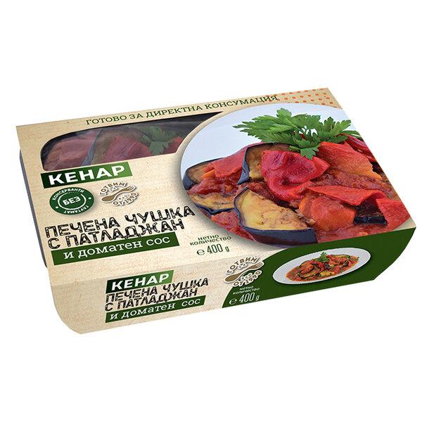 КЕНАР Печена чушка с патладжан с доматен сос 400 гр.