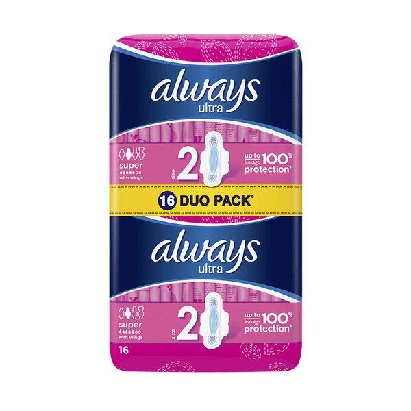 ALWAYS Ultra Дамски превръзки Duo pack 16/20 бр.