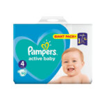 Pampers giant pack + 4  -  8-14 кг. 78/86 бр.