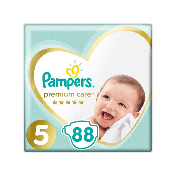 Pampers premium care 5, 11-16 кг. 88 бр.