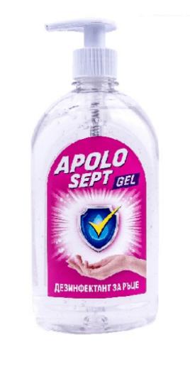 Дезинфектант за ръце гел Apolo sept 500 мл.