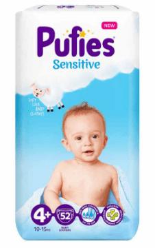 Пелени Pufies Sensitive Размер 4+ 10-15 кг