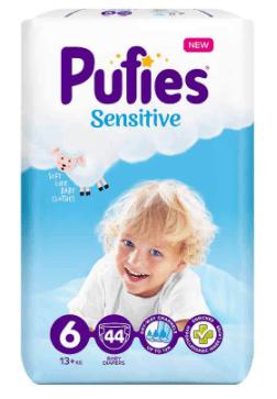 Пелени Pufies Sensitive XL Размер 6 13+ кг