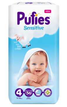 Пелени Pufies Sensitive Размер 4 9-14 кг