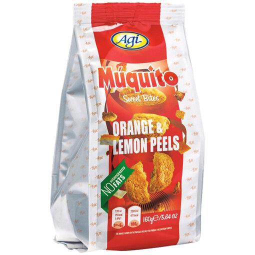 AGI Сладки хапки мукито с лимонови и портокалови корички 160 гр.