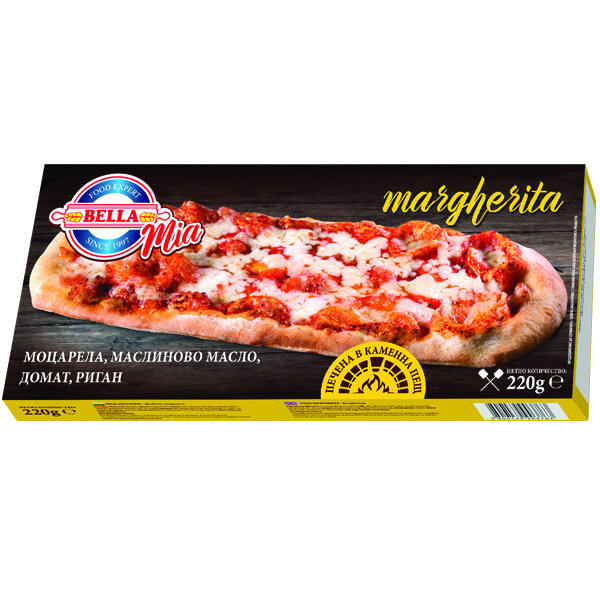 BELLA MIA пица Маргарита правоъгълна 220 гр.