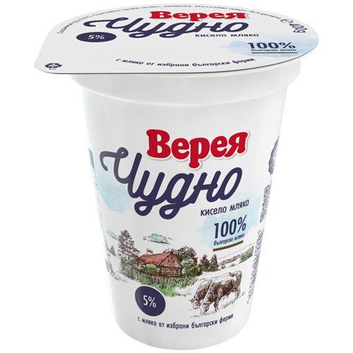ВЕРЕЯ Кисело мляко Чудно 5% 400 гр.