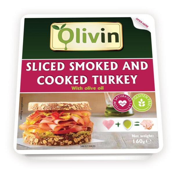 OLIVIN Варено - пушено пуешко филе със зехтин слайс 160 гр.