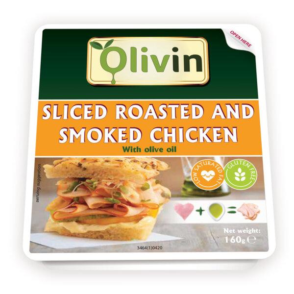 OLIVIN Печено - пушено пилешко филе със зехтин слайс 160 гр.