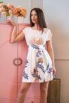 Къса разкроена рокля Victoria