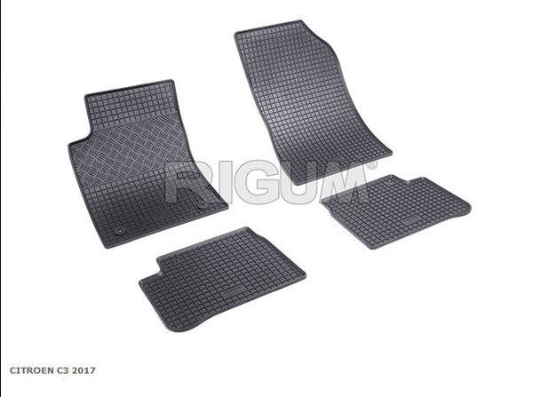 Гумени стелки за Citroen C3 модел от 2017 година