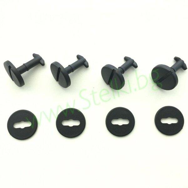 Копчета ( *пирончета ) за стелки 4 бр. ( BMW ) - ЧЕРНИ