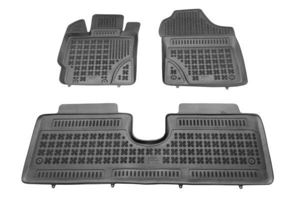 Гумени стелки с висок борд за Toyota Yaris  модел с 5 врати от 2011 до 2019 година без HYBRID