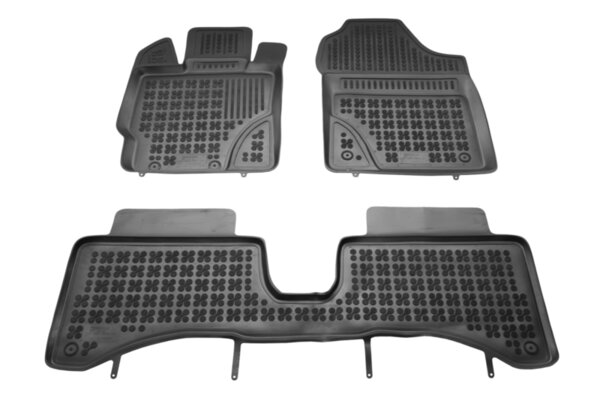 Гумени стелки с висок борд за Toyota Yaris Hybrid модел от 2012 до 2014 година