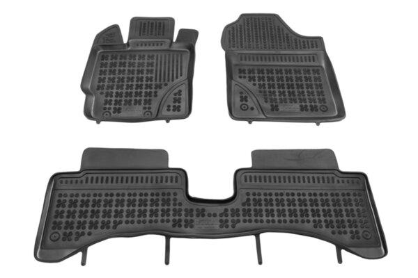 Гумени стелки с висок борд за Toyota Yaris Hybrid модел от 2014 до 2019 година