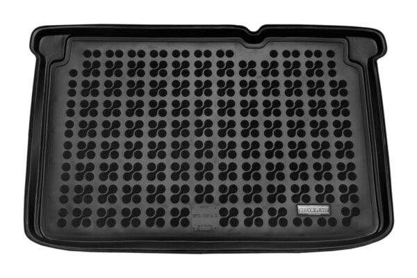 Гумена стелка за багажника на Opel Corsa Е модел от 2015 година долно ниво на багажника