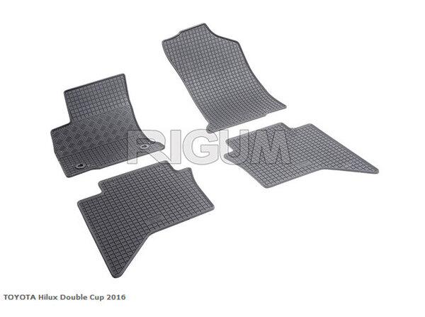 Гумени стелки за Тoyota Hilux  двойна кабина модел след 2016 г